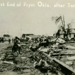 West End of Pryor Okla. after Tornado.